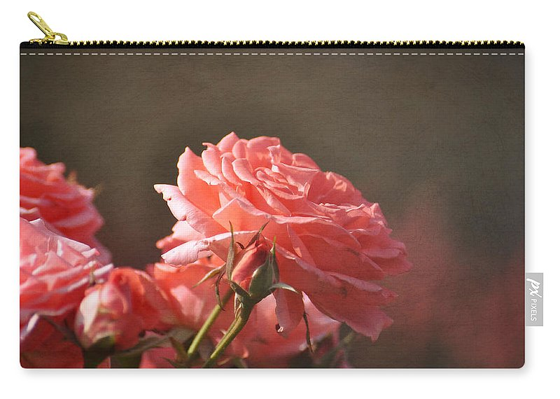 Pink Carry-all Pouch featuring the photograph Pink Rose by Todd Hostetter