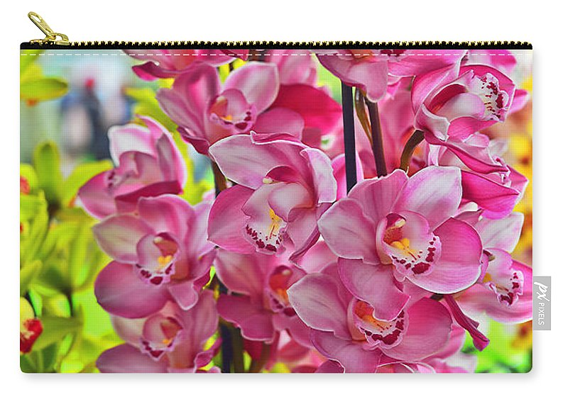 Travel Carry-all Pouch featuring the photograph Pink Shadows by Elvis Vaughn