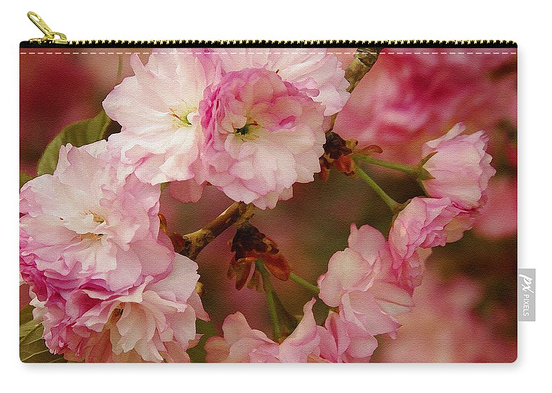 Crab Apple Carry-all Pouch featuring the photograph Pink Spring Blossoms by James C Thomas