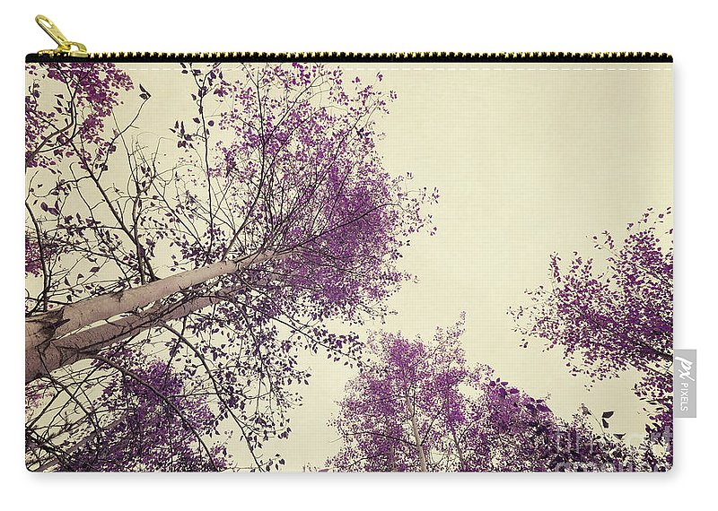Tree Carry-all Pouch featuring the photograph Pink Trees by Priska Wettstein