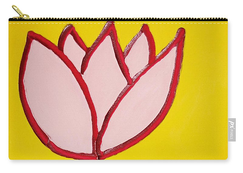 Tulip Carry-all Pouch featuring the painting Pink Tulip by Matthew Brzostoski