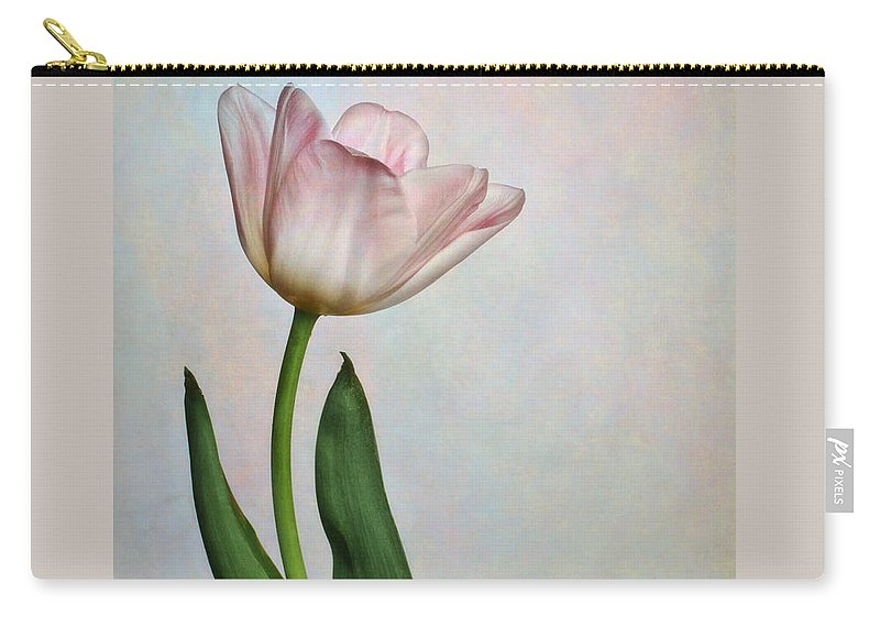 Bloom Carry-all Pouch featuring the photograph Pink Tulips IIi by David and Carol Kelly