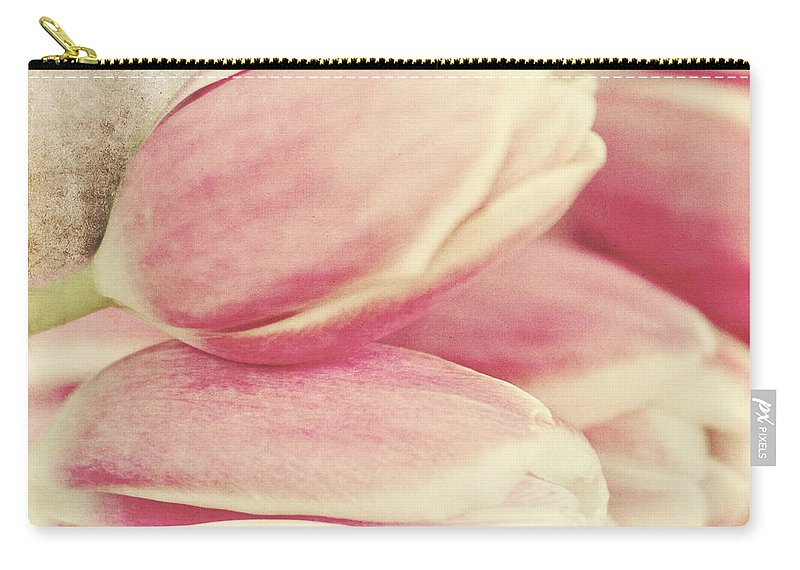 Tulips Carry-all Pouch featuring the photograph Pink Tulips by Pam Holdsworth