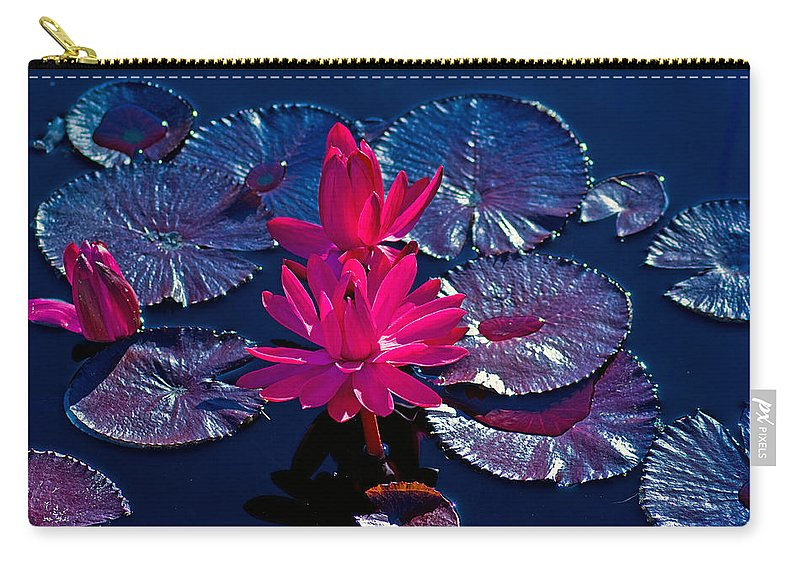 Water Lily Carry-all Pouch featuring the photograph Pink Water Lilies by Brian Kerls