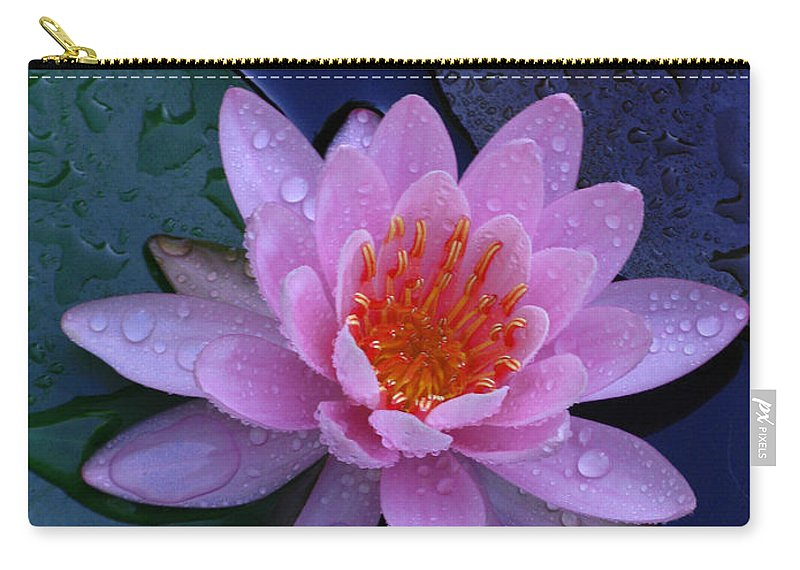 Waterlily Carry-all Pouch featuring the photograph Pink Waterlily by Raymond Salani III