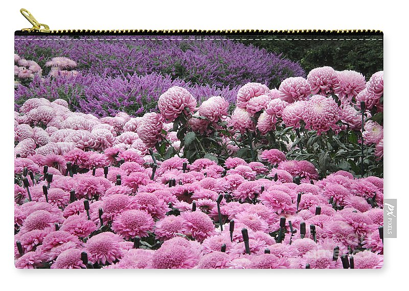 Pink Carry-all Pouch featuring the photograph Pink Waves by Adrienne Franklin
