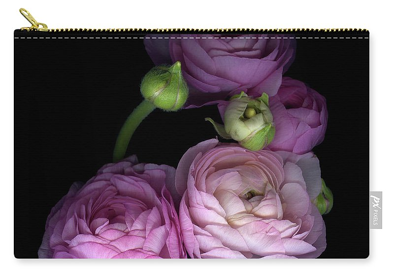 Bud Carry-all Pouch featuring the photograph Pinkalicius Ranunculus... Pink For by Photograph By Magda Indigo