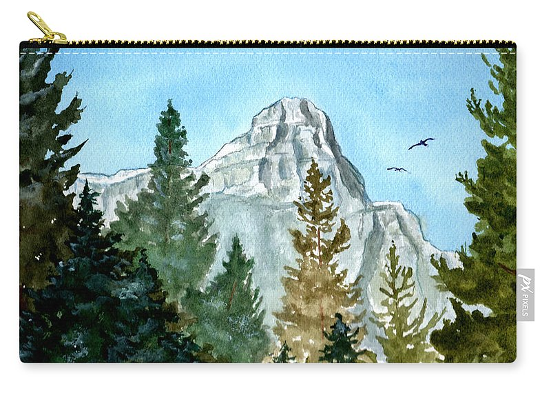 Watercolor Carry-all Pouch featuring the painting Pinnacle by Brenda Owen