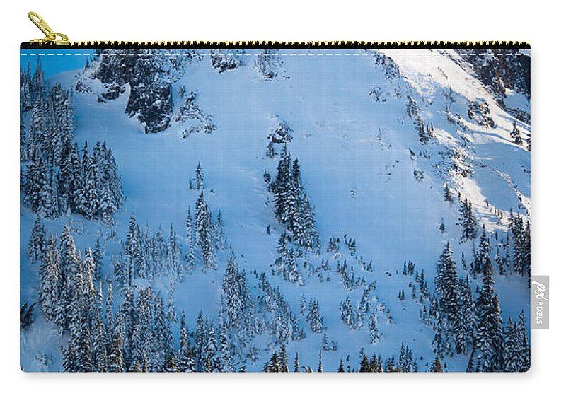 America Carry-all Pouch featuring the photograph Pinnacle Peak Winter Glory by Inge Johnsson