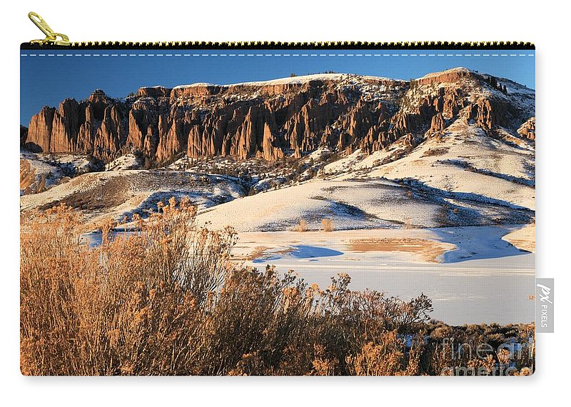 Dillon Pinnacles Carry-all Pouch featuring the photograph Pinnacles Sunset by Adam Jewell