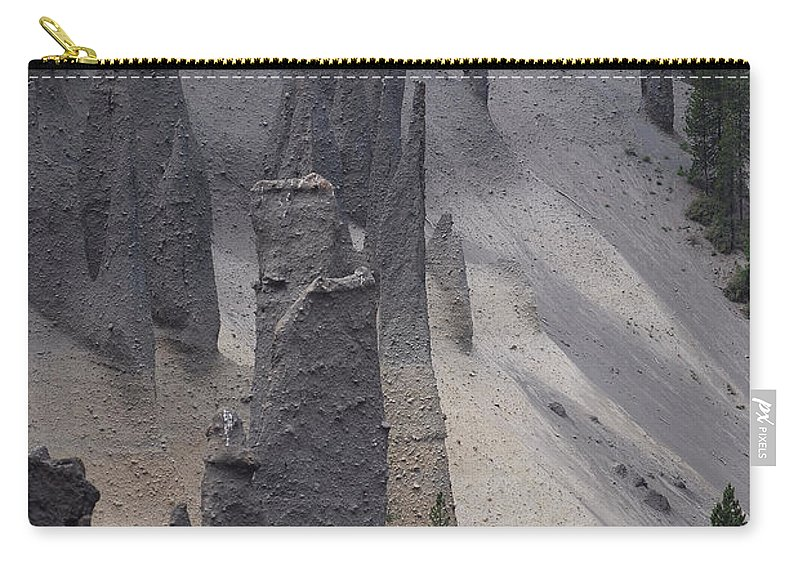 Crater Lake Carry-all Pouch featuring the photograph Pinnacles Valley by Sharon Elliott