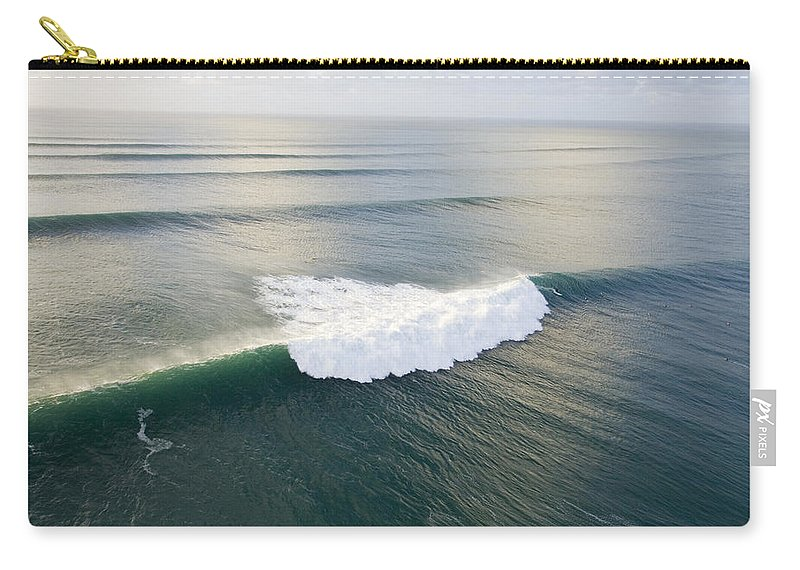 Perfect Surf Carry-all Pouch featuring the photograph Pipelime by Sean Davey