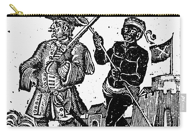 1725 Carry-all Pouch featuring the painting Pirate Henry Every, 1725 by Granger