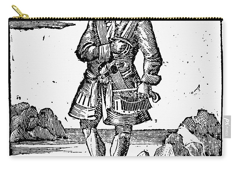 1725 Carry-all Pouch featuring the painting Pirate John Rackam, 1725 by Granger