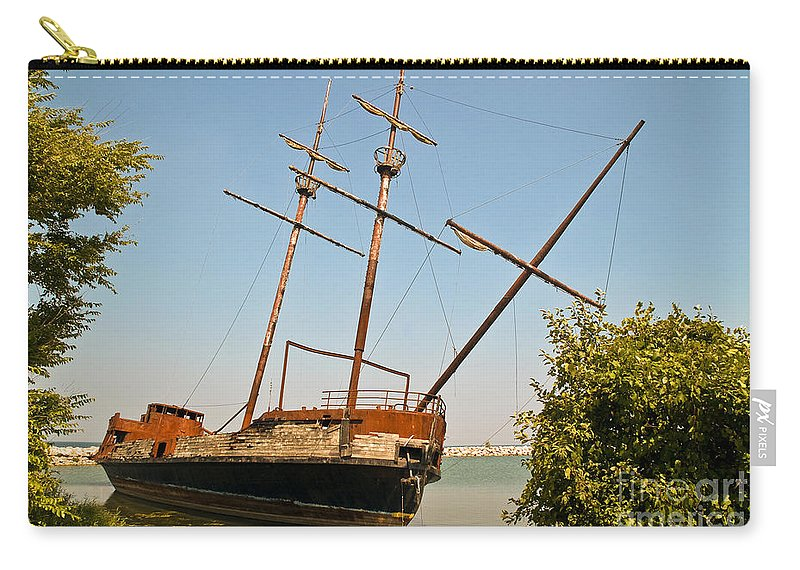 Arson Carry-all Pouch featuring the photograph Pirate Ship Or Sailing Ship by Sue Smith