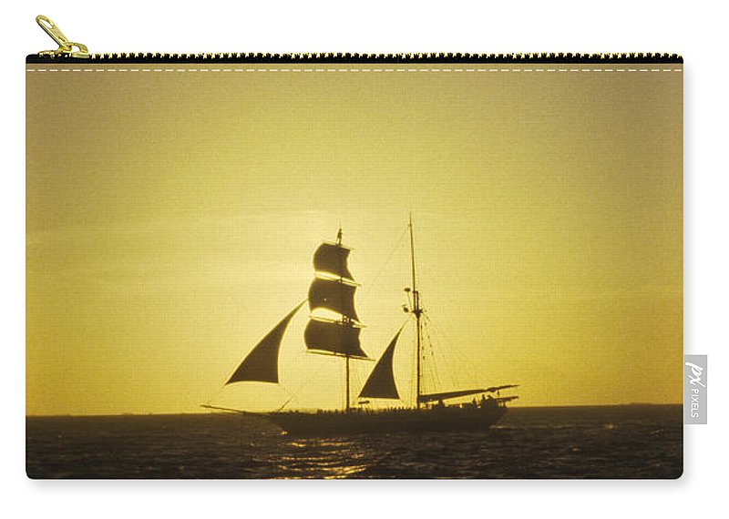 Pirates Carry-all Pouch featuring the photograph Pirates At Sea - Caribbean by Douglas Barnett