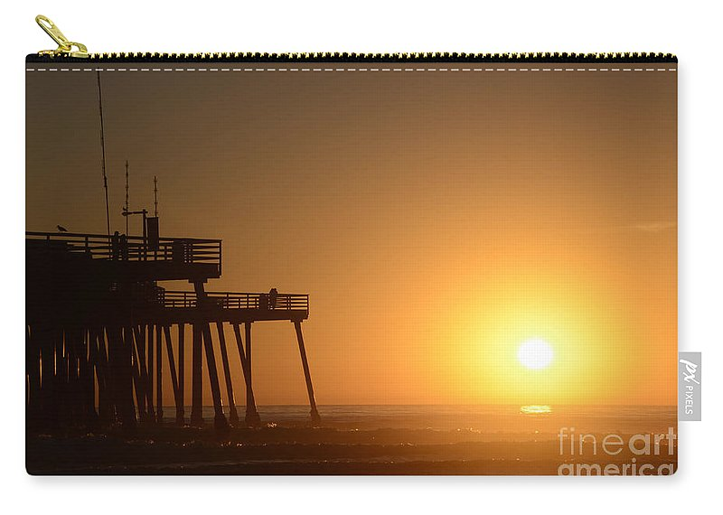 Pismo Carry-all Pouch featuring the photograph Pismo Beach Pier California 6 by Bob Christopher