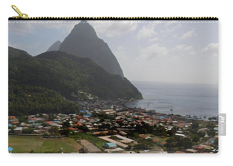 Pitons Carry-all Pouch featuring the photograph Pitons St. Lucia by Heather Coen