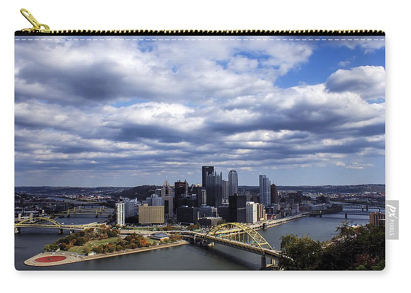 Pittsburgh Carry-all Pouch featuring the photograph Pittsburgh After The Storm by Michelle Joseph-Long