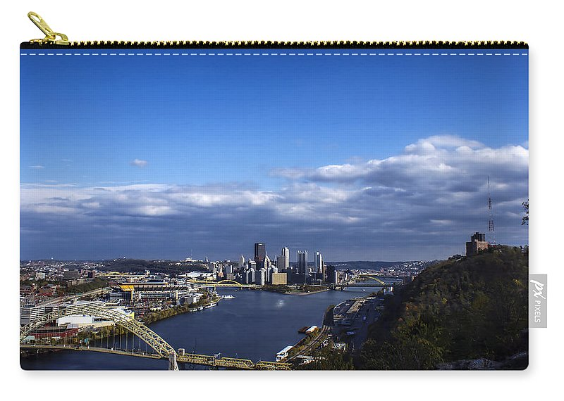 Pittsburgh Carry-all Pouch featuring the photograph Pittsburgh At Dusk by Michelle Joseph-Long