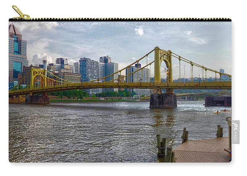 Clemente Carry-all Pouch featuring the photograph Pittsburgh Clemente Bridge by C H Apperson