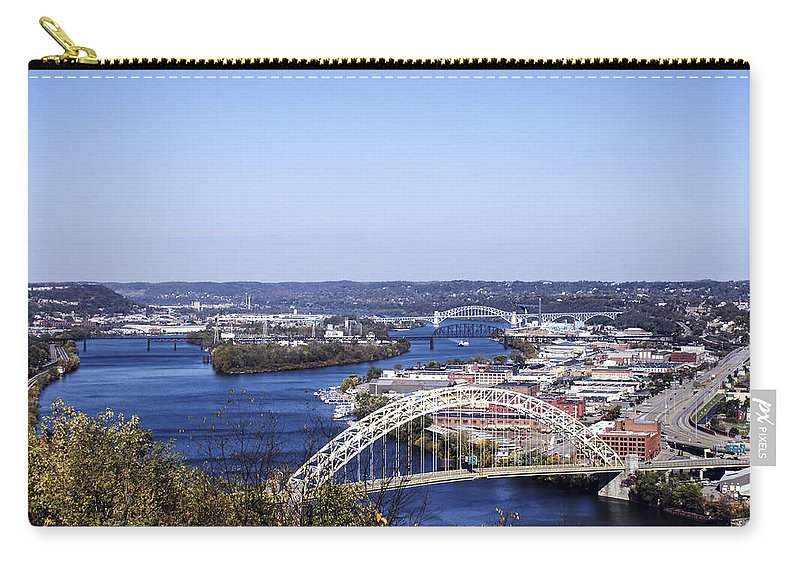 Pittsburgh Carry-all Pouch featuring the photograph Pittsburgh North by Michelle Joseph-Long