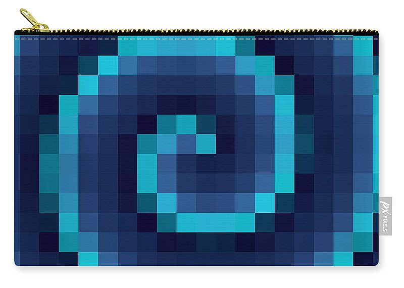 Swirl Carry-all Pouch featuring the digital art Pixel 4 by Ron Hedges