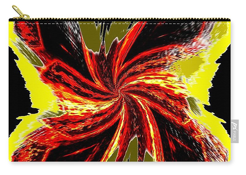 Abstract Carry-all Pouch featuring the digital art Pizzazz 48 by Will Borden