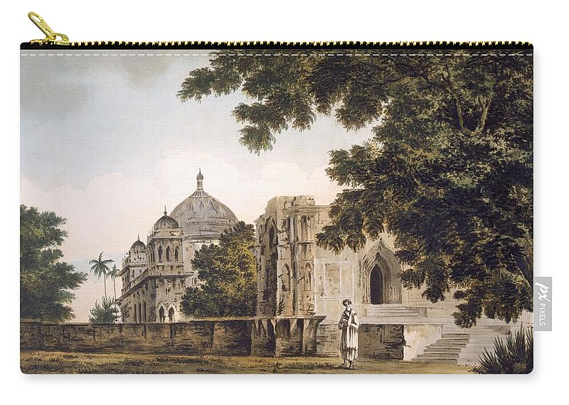 Landscape Carry-all Pouch featuring the drawing Pl. 18 A View Of The Mosque by William Hodges