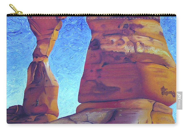 Moab Carry-all Pouch featuring the painting Place Of Power by Joshua Morton