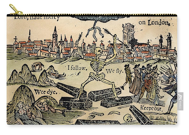 1665 Carry-all Pouch featuring the photograph Plague Of London, 1665 by Granger