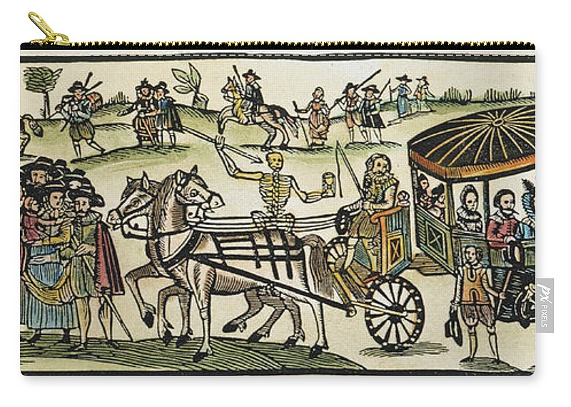 1630 Carry-all Pouch featuring the photograph Plague Of London by Granger