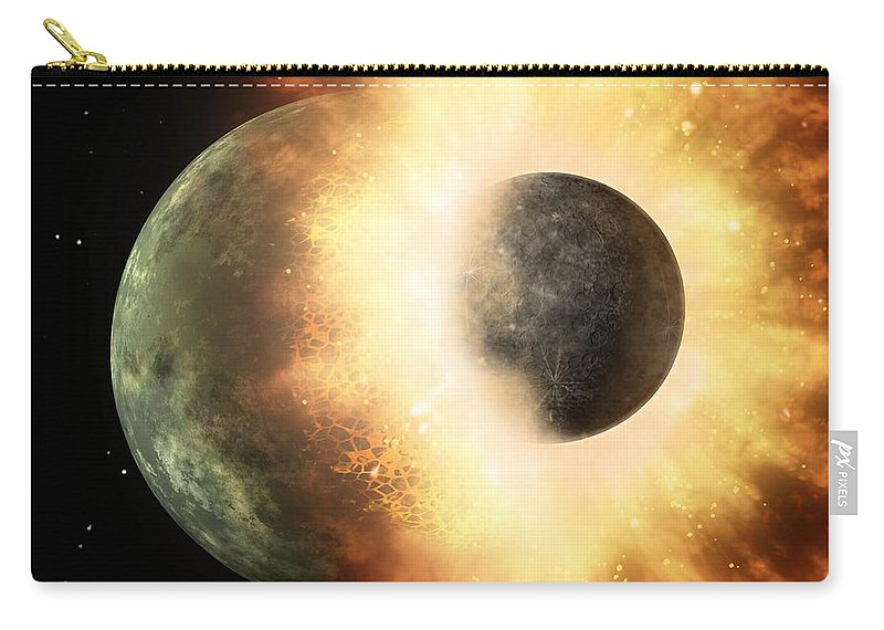 Astronomy Carry-all Pouch featuring the photograph Planetary Demolition Derby by Paul Fearn