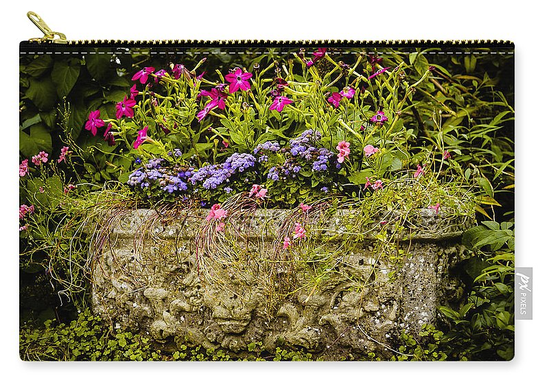 Blue Carry-all Pouch featuring the photograph Planter by Mark Llewellyn