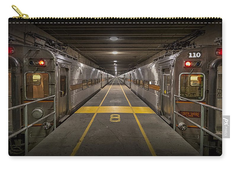 3scape Carry-all Pouch featuring the photograph Platform Eight At Union Station by Adam Romanowicz