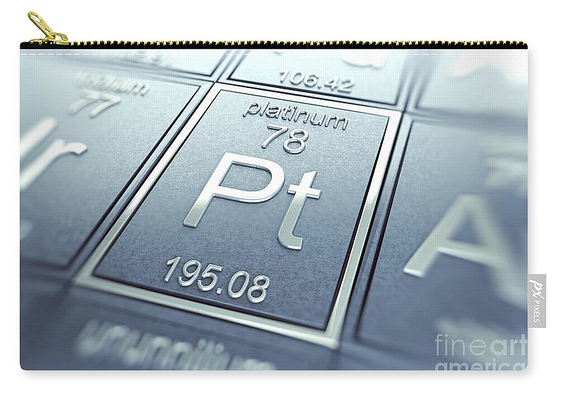 Platinum Carry-all Pouch featuring the photograph Platinum Chemical Element by Science Picture Co