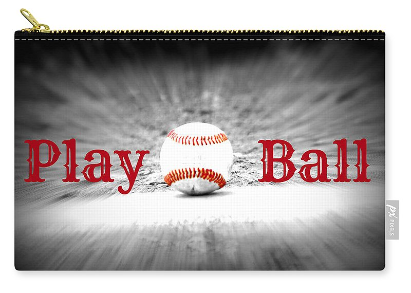 Ball Carry-all Pouch featuring the photograph Play Ball 2 by Tina Meador