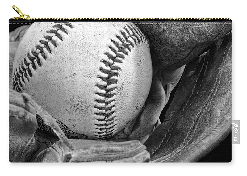 Baseball Carry-all Pouch featuring the photograph Play Ball by Don Schwartz