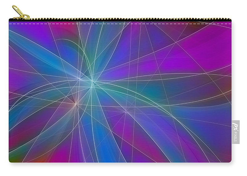 Digital Art Carry-all Pouch featuring the digital art Play Of Colours by Gabiw Art