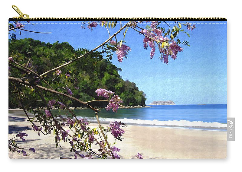 Beach Carry-all Pouch featuring the photograph Playa Espadillia Sur Manuel Antonio National Park Costa Rica by Kurt Van Wagner