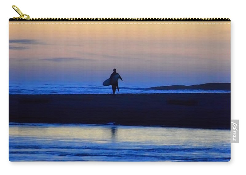 Surf Carry-all Pouch featuring the photograph Played Out by Donna Blackhall