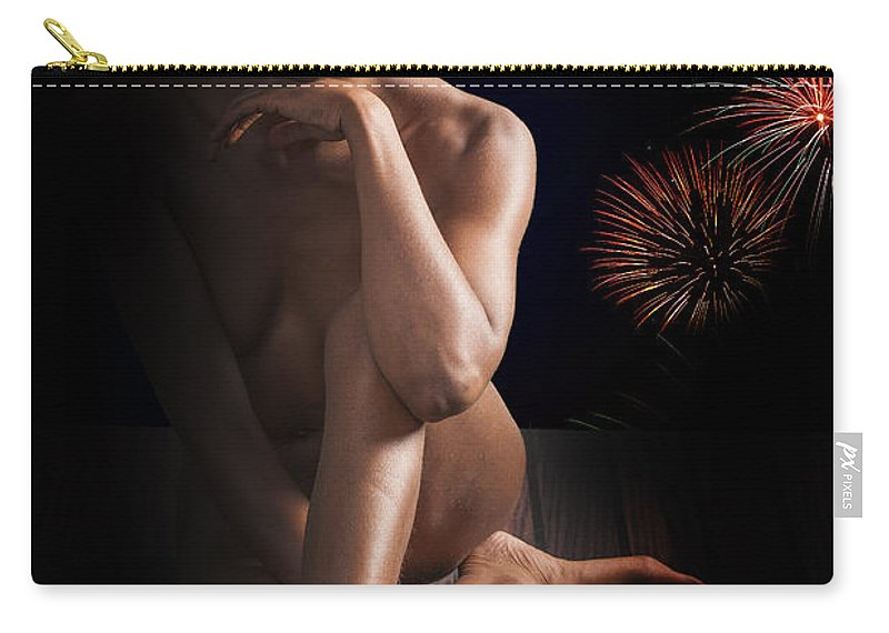 African Carry-all Pouch featuring the photograph Chynna African American Nude Girl In Sexy Sensual Photograph And In Color 4774.02 by Kendree Miller