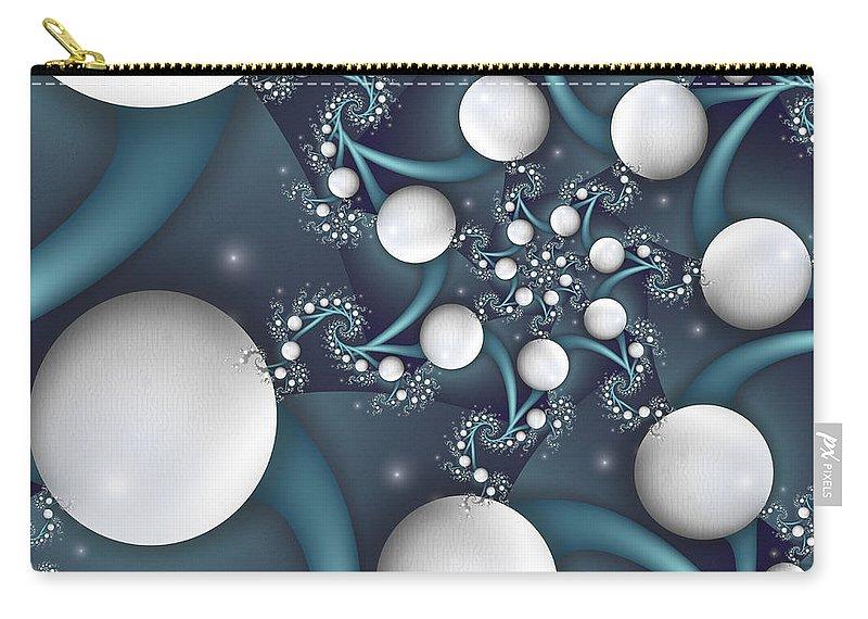 Digital Art Carry-all Pouch featuring the digital art Playful by Gabiw Art