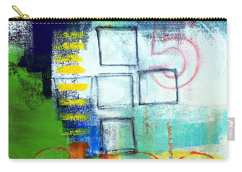 Abstract Carry-all Pouch featuring the painting Playground by Linda Woods
