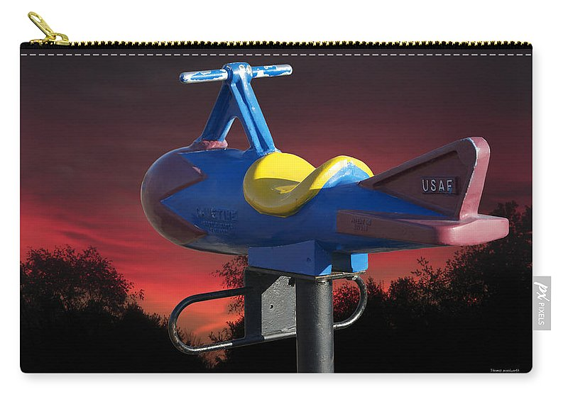 Usaf Carry-all Pouch featuring the photograph Playground Plane by Thomas Woolworth