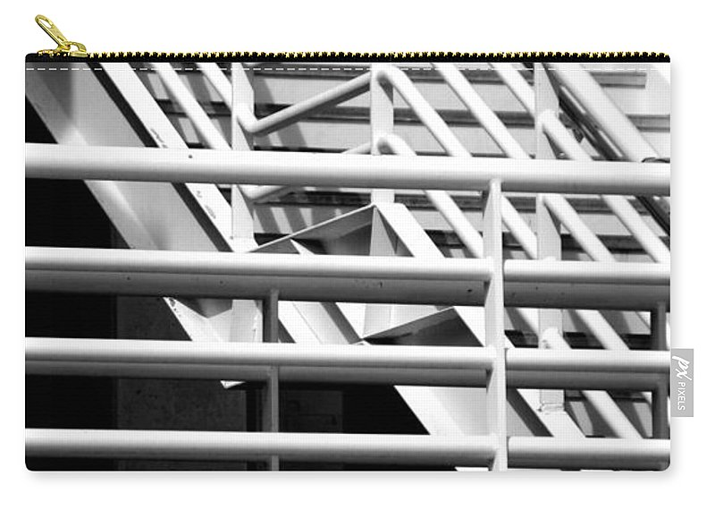 Stairs Carry-all Pouch featuring the photograph Playing The Angles by Joe Kozlowski