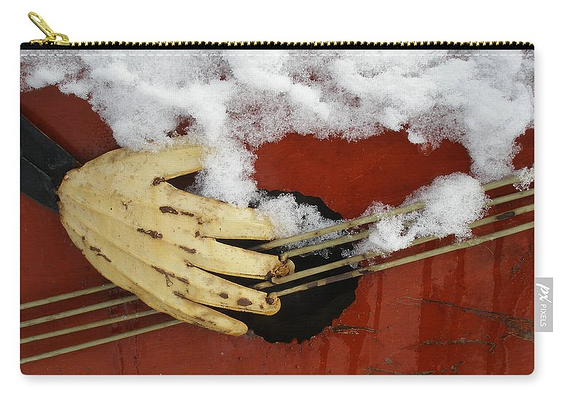 Carry-all Pouch featuring the photograph Playing The Cold Blues by David Pantuso