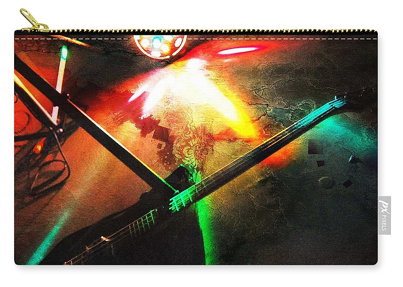 Guitar Carry-all Pouch featuring the photograph Playing Till Dawn by The Artist Project