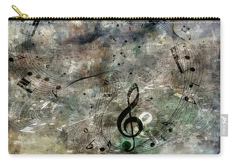 Music Carry-all Pouch featuring the digital art Playing Your Song by Angelina Vick