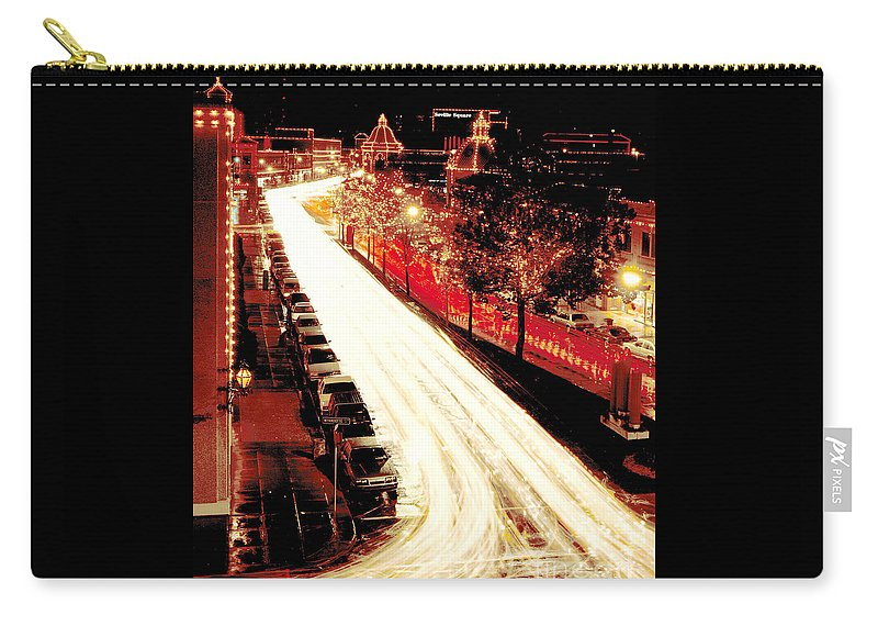 Gary Gingrich Carry-all Pouch featuring the photograph Plaza Christmas - Kansas City by Gary Gingrich Galleries